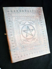 Pentacle pagane wicca pelle a mano altare BOOK Grimoire book-of-shadows