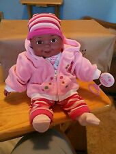 """12"""" ETHNIC VINYL/ CLOTH BABY DOLL ( CAN BE DRESSED AS A GIRL OR A BOY)"""