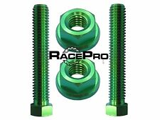RacePro - Green Titanium Axle Chain Adjuster Bolts - Kawasaki Zx10R D6F 06-07