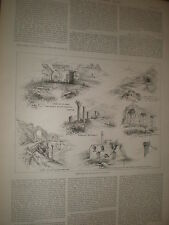 Sketches of the ruins of Ephesus 1891 print and article ref AZ