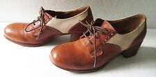 MOMA Women's Shoes Leather Tan and Beige Vintage  Sz 37.5  US 7
