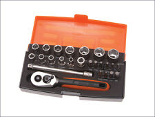 "Bahco Socket Set 1/4"" Drive Ratchet  25 Piece SL25"