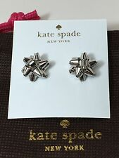 NEW Kate Spade New York Bourgeois Bow Silver Stud Earrings Authentic LAST ONE