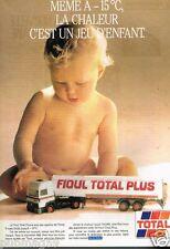 Publicité advertising 1988 Station service Total Fioul