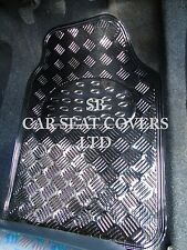 TO FIT A PEUGEOT 307 CAR, CARBON METALLIC PLATE PVC RUBBER MAT RM 700N