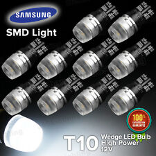 Yorkim 10X White High Power T10 Wedge  LED Light (SAMSUNG Bulbs) W5W 192 168 194