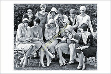 p485 1920s fashion Hollywood showgirl flapper girl cloche hat photo