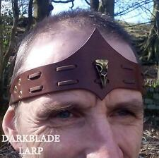 Bird Skull Leather Headband Circlet larp pagan cosplay stage wicca viking