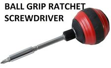 BALL GRIP RATCHET SCREWDRIVER Am-Tech  Easy Grip Hole Bit Holder tool L1255