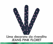 Miss Ky Lima Decorata JEANS PINK FLORET Professional Nail Product by KyLua Italy