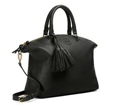 NWT TORY BURCH $495 BLACK THEA SLOUCHY SATCHEL BAG