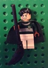 New Genuine LEGO Marcus Flint Quidditch Harry Potter 4737 Plus Black Broom EUC