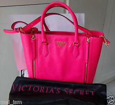 Victoria's Secret VIP Satchel Neon Watermelon (Pink) Leather Bag - New