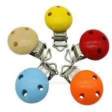 5PCS Baby Infant Wooden Dummy Clip Cartoon Pacifier Nipples Clip Holder