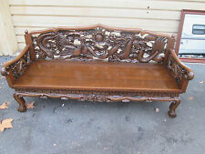 56314 Oriental Sofa Couch Bench  with Dragons  QUALITY