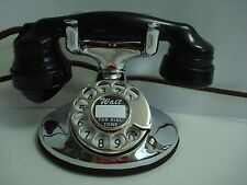Antique Chrome Western Electric 202 Telephone Works!