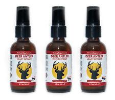 3 Bottles Deer Antler Velvet Extract Spray 60 ml. 2 fl.oz (3 Month Supply)
