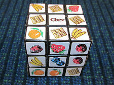 Vintage CHEX Cereal Premium Puzzle Cube Twist Turn Game Banana Orange Strawberry