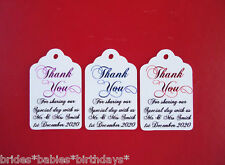 10 Kraft White Gift Tags Wedding Favour Bomboniere Personalised Party Thank You