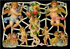6 SHEETS ANGEL CHERUB PUTTI VICTORIAN DIE CUT SCRAP BOOKING PAPERS SCRAPS