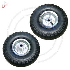 "2X 10""Inch Pneumatic Tyres Sack Truck Trolley Wheel Barrow New Tyre Garden Hand"