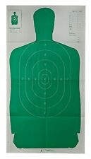 """24"""" X 45"""" Green Police Silhouette 10 Pack Paper Target Shots Practice Training"""