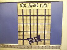 Vintage Music, Maestro, Please sheet music  1938 Bourne, Inc