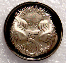 AUSTRALIA: 1991  5 CENTS PROOF ECHIDNA /SPINEY ANT EATER!