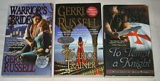 GERRI RUSSELL lot of 3 Medieval Romance PBs WARRIOR'S BRIDE Trainer MORE