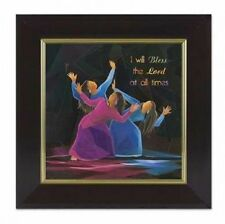 I WILL BLESS THE LORD AT ALL TIMES Framed Wall Art African American Expressions