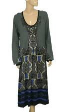 75594 New $110 Taillissime La Redoute Creation Boho Embellished Embroidered XXL