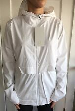 LULULEMON Size 12 Nonstop Rain Jacket NWT NEW White Studio Define Wind