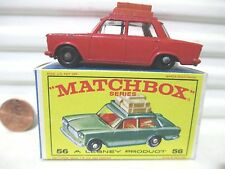Lesney Matchbox Rare 1965 RW56B RED FIAT 1500 Tan Roof Luggage NearMint in NuBox