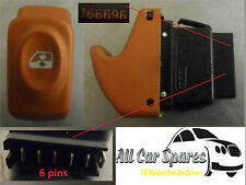 Renault Scenic Mk1 / Megane Scenic Mk1 - Universal Window Switch - Orange