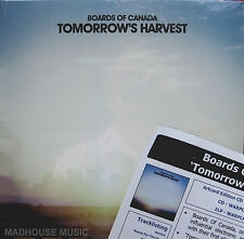 BOARDS OF CANADA LP x 2 Tomorrow's Harvest SEALED + Promo Info Sheet Gatefold Ps