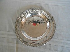 International silverplate co Camelot round  tray #6111