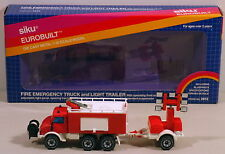 DTE 1:55 GERMANY SIKU 2913 FIRE EMERGENCY TRUCK & LIGHT TRAILER NIOB