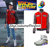 FREE WW SHIP Back To Future Marty Mcfly Cosplay Costume SET LIGHT UP SHOES 80s