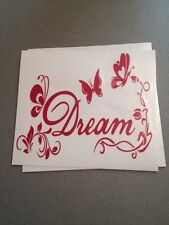 Dream With Butterflies Pink Vinyl Die Cut Decal,window,car,truck,laptop,iPad