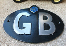 VW Bay Samba Car Classic Vintage RAC GB Great Britain Touring Badge/Sign