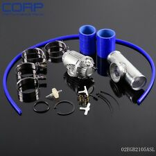 "Blow Off Valve BOV IV 4  +2.5"" Flange Pipe  +Clamps kit blue Silicone Hose"