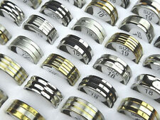 30 mix top men's women's stainless steel rings wholesale jewelry lots