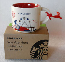 STARBUCKS 2015 NEW JERSEY You Are Here ORNAMENT NIB ceramic YAH demitasse