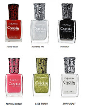 Sally Hansen Crackle Overcoat Nail Polish Pink Red  Green Black White Set of 6
