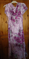 Womans pink floral silk blend CC dress  weddings horse races parties size 16