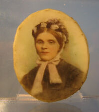 Victorian Miniature portrait of a lady in a bonnet