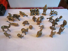 VTG COLLECTION OF 24 BRASS ANIMAL FIGURES & MORE - ALMOST 6 POUNDS! - BOX RRT
