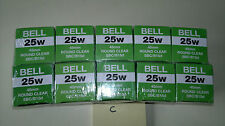 10 x Bell 240v 25w 45mm round clear golfball bulbs with sbc/b15 cap
