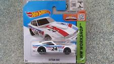 Hot Wheels 2015 #243/250 DATSUN 240Z white HW Workshop CASE K