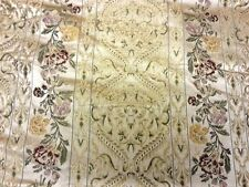 Heavyweight large floral brocade design beige or rouge rideau ameublement tissu